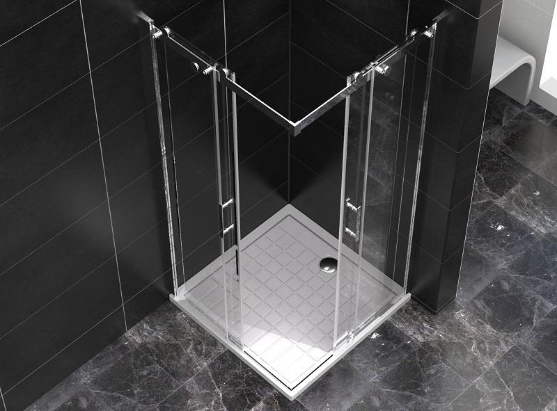 nowoczesna kabina prysznicowa z brodzikiem