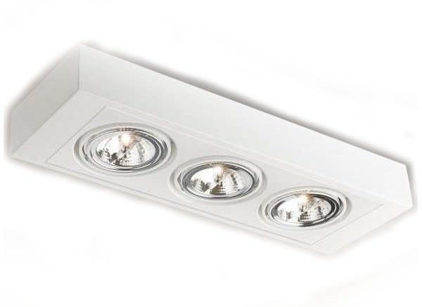 lampa sufitowa Shilo H 1227/GU10/BI Koga, barwy białej, o maksymalnej mocy źródeł światła do 45W łącznie