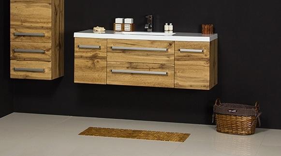 szafka wisząca z umywalką łazienkową, model 120/39C Clever Fokus NE