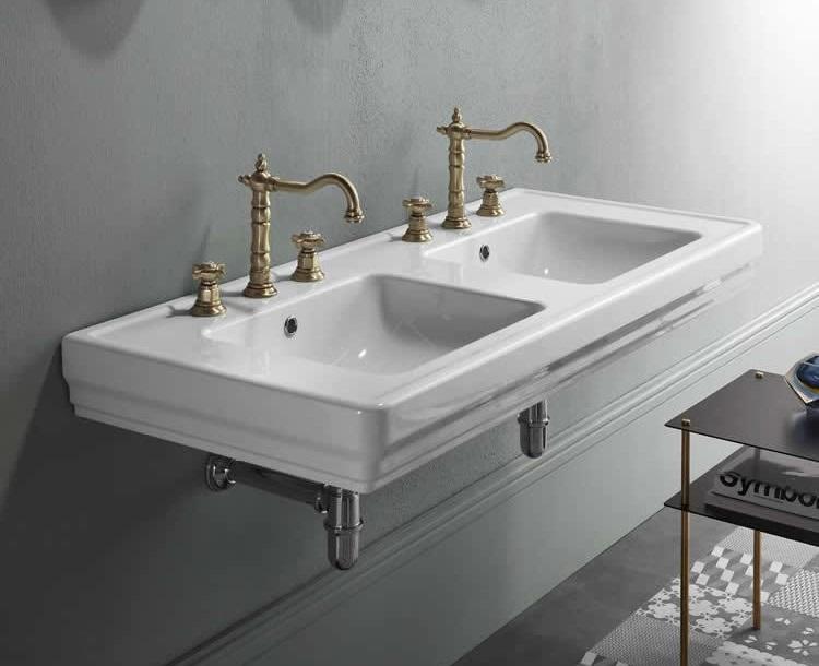umywalka podwójna w łazience