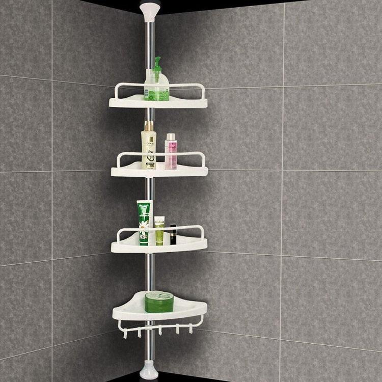 wieszak prysznicowy z półkami