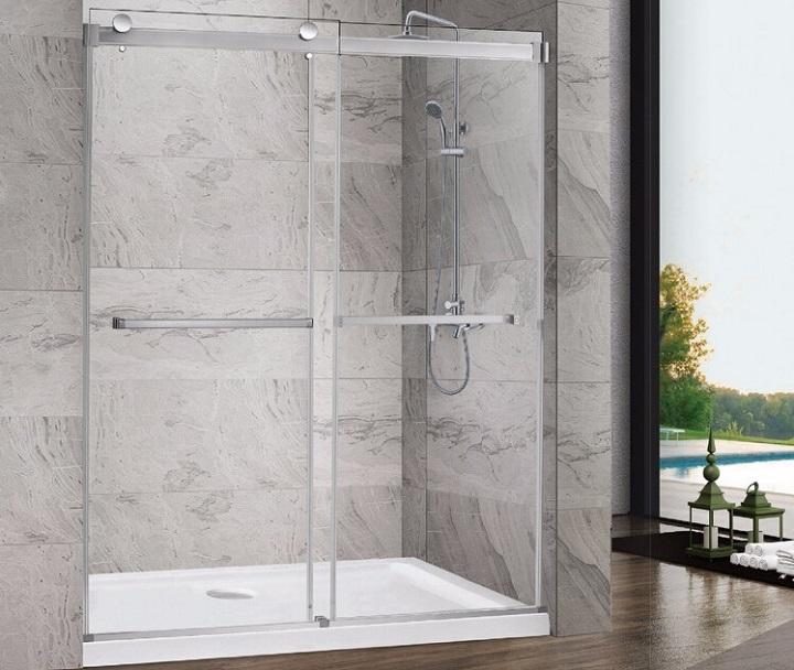 drzwi prysznicowe z szybą natryskową