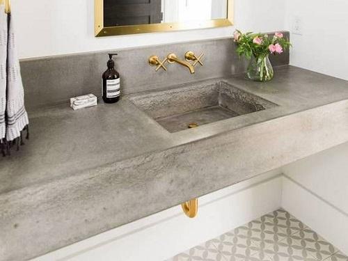 betonowy blat łazienkowy
