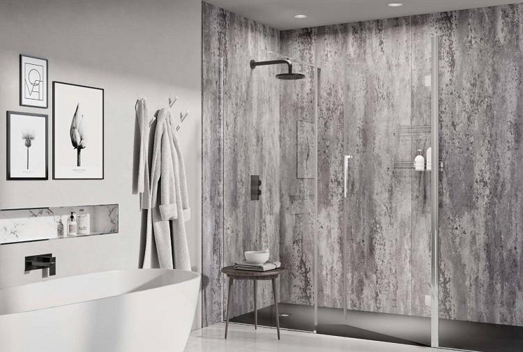panele ścienne w przestrzeni łazienkowej
