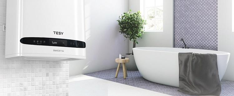 elektryczny bojler w łazience