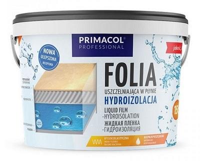 Uszczelniająca folia hydroizolacyjna Primacol Professional 15 kg, konsystencja płynna