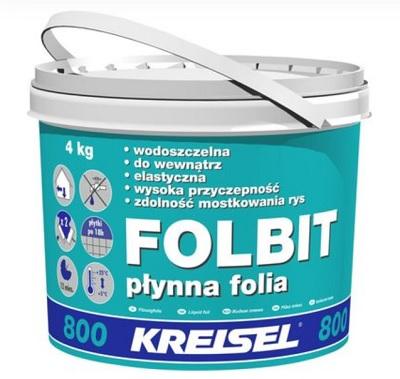 Płynna folia Kreisel Folbit 4 kg, hydroizolacja wewnętrzna