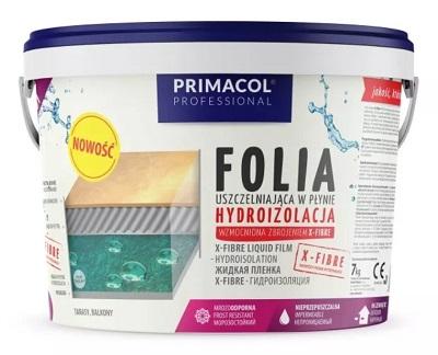 masa hydroizolacyjna Primacol X-Fibre 7 kg, folia w postaci płynnej