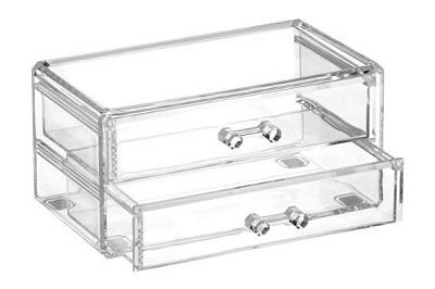 przybornik kosmetyczny Fala Crystal 3, organizer o wymiarach 19 x 10 x 9 cm