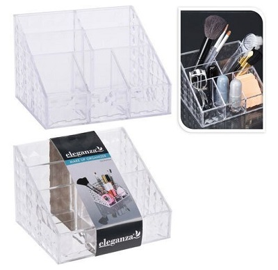 Pojemnik organizer Eleganza 15 x 12 x 10 cm na akcesoria toaletowe