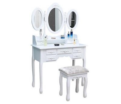 toaletka Ola 145 z trzema lusterkami kosmetycznymi i taboretem