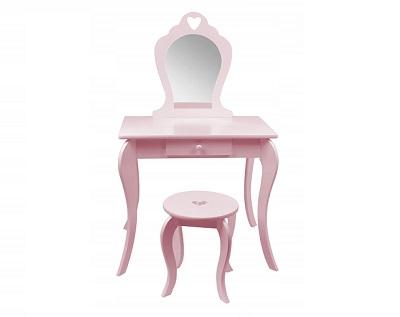Różowa toaletka kosmetyczna dla dziewczynki